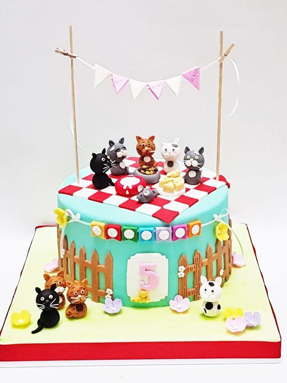 torta picnic gatos mronq