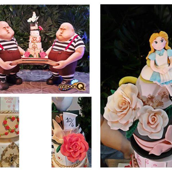 torta alicia en el país de las maravillas niñas mrponQ