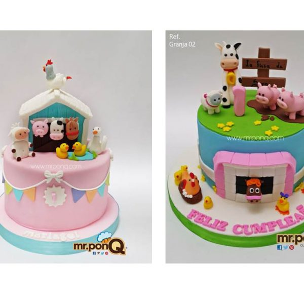 torta niñas granja mrponQ