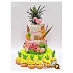 torta niñas hawaiana mrponq