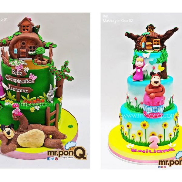 Torta niñas masha y el oso mrponq