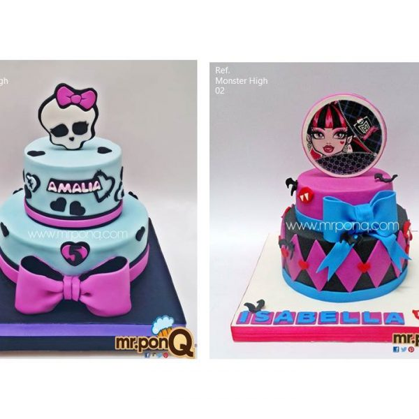 tortas niñas monster high