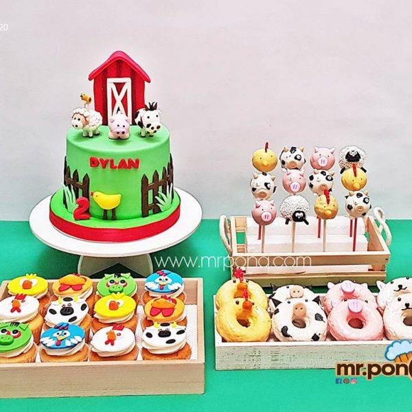 torta la granja niños mrponq