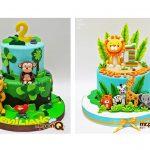 mrponq torta niños safari