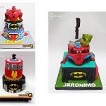 torta superheroes niños