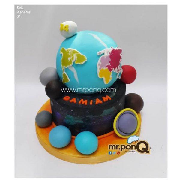 torta niños - Planetas