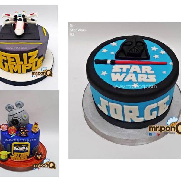 torta niños star wars