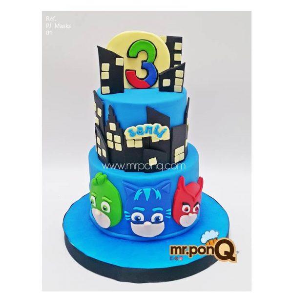 torta pjmask niños mrponQ
