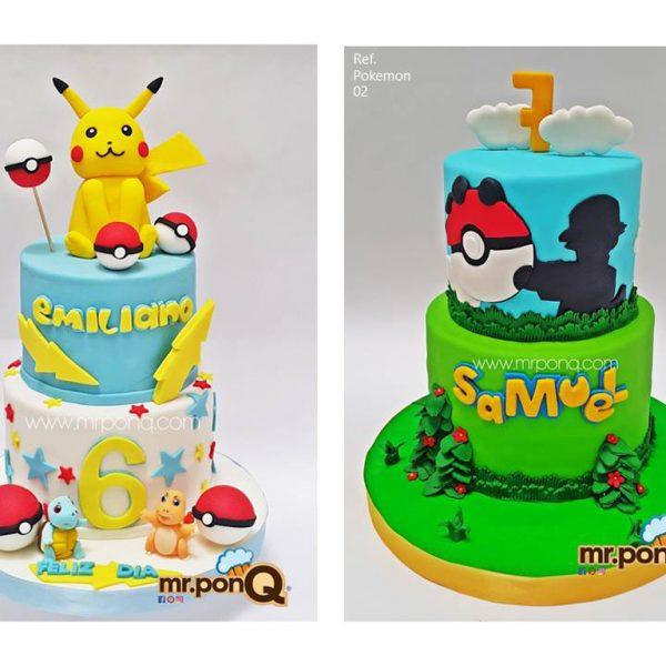 mrponq tortas niños pokemon