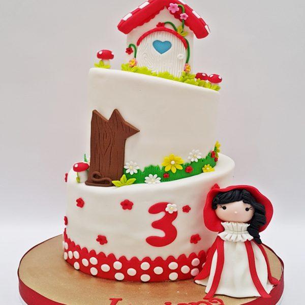 mrponq torta niñas caperucita Roja