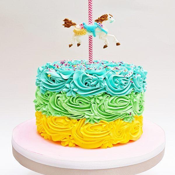 mrponq tortas niñas carrusel
