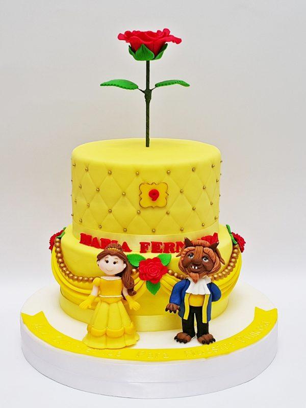 mrponq tortas niñas princesa bella