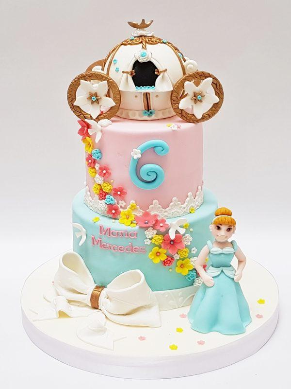 mrponq tortas niñas princesa cenicienta