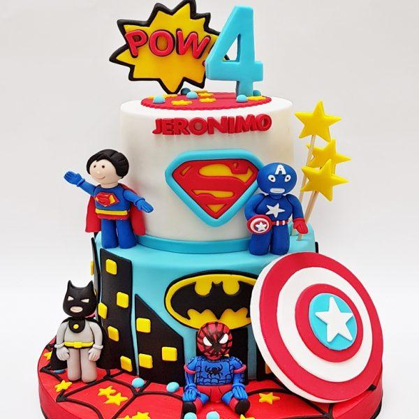 mrponq niños super heroes