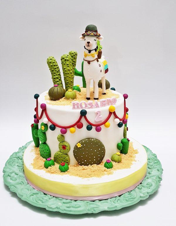 torta llama niñas mrponq